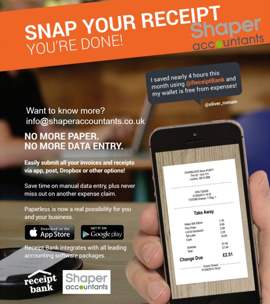 Receipt Bank App with Shaper Accountants